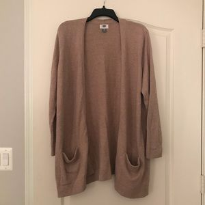 Old Navy tan open cardigan with pockets XL